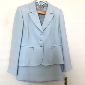 TAHARI Light Blue Skirt Suit